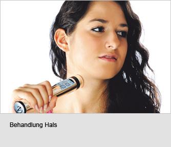 Behandlung des Halses mit PowerTube Silber